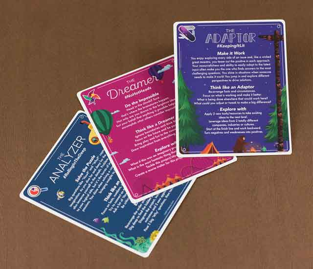 Kimberly Clark IdeaStorm Idea Cards on table